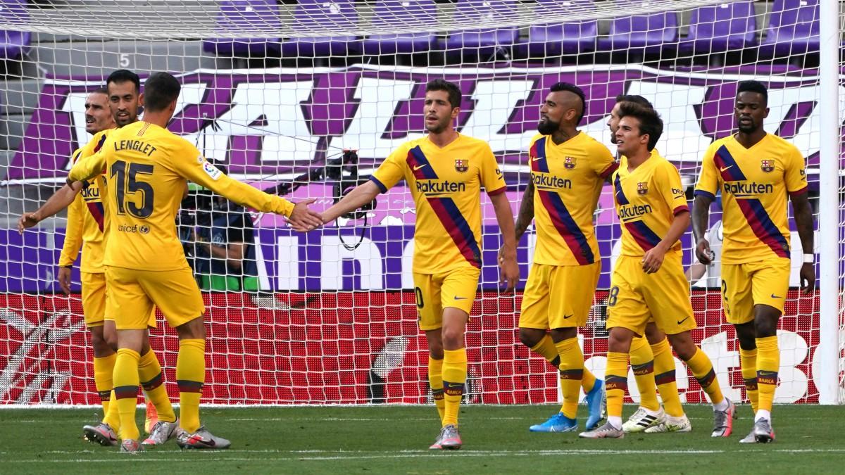 El Barcelona venció al Valladolid en Zorrilla. (AFP)