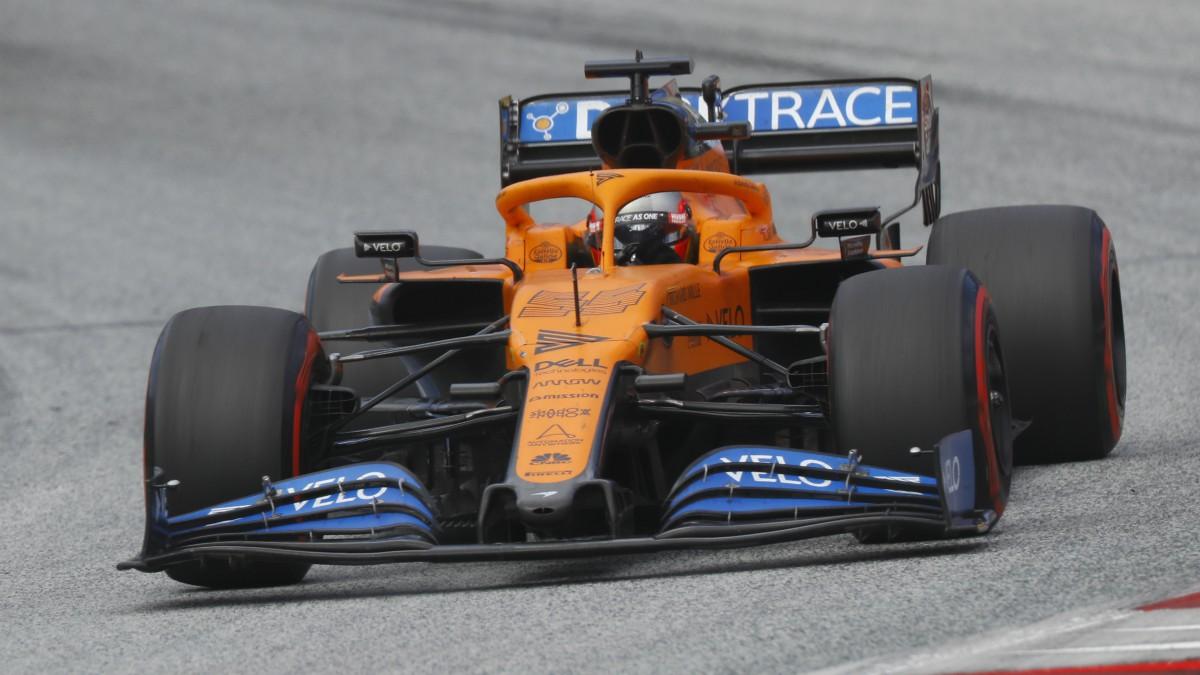 Carlos Sainz durante el Gran Premio de Estiria. (AFP)