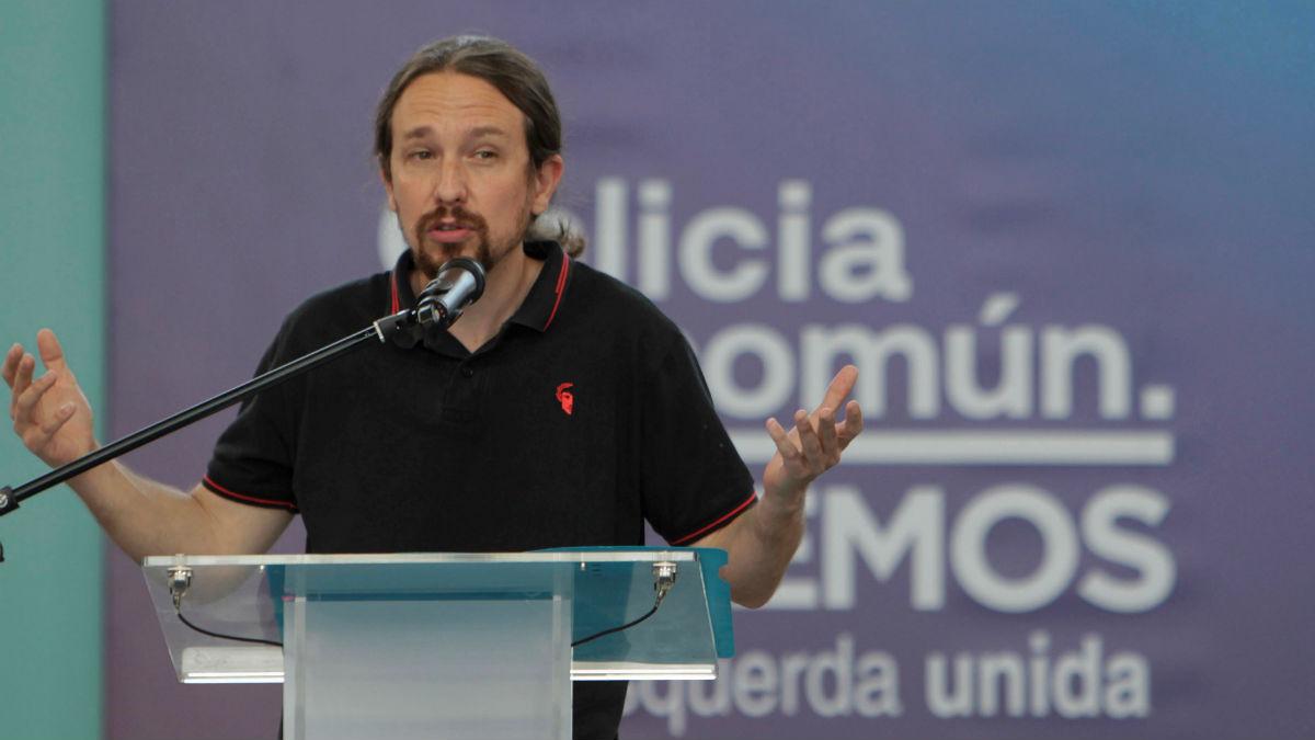 El líder de Podemos, Pablo Iglesias, durante un acto electoral de los comicios gallegos. (Foto: EFE)