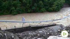 Derrumbe de un puente en China