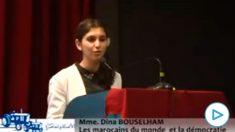 La ex asistente de Pablo Iglesias en el Parlamento europeo Dina Bousselham.
