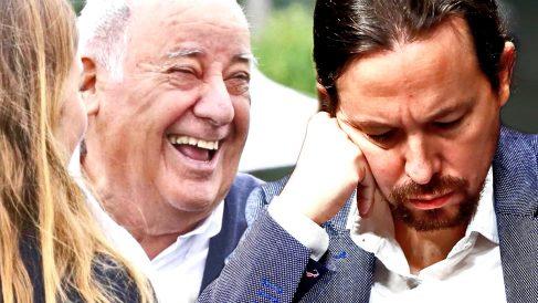 Amancio Ortega y Pablo Iglesias.