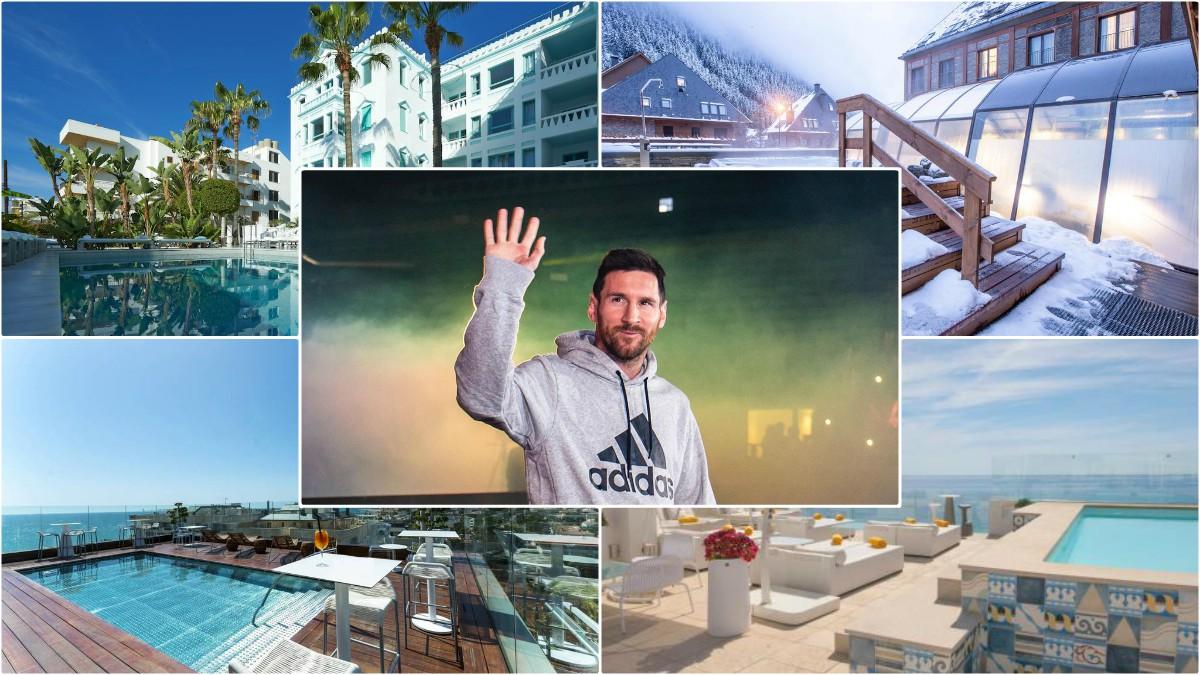 Los cuatro hoteles de Messi.