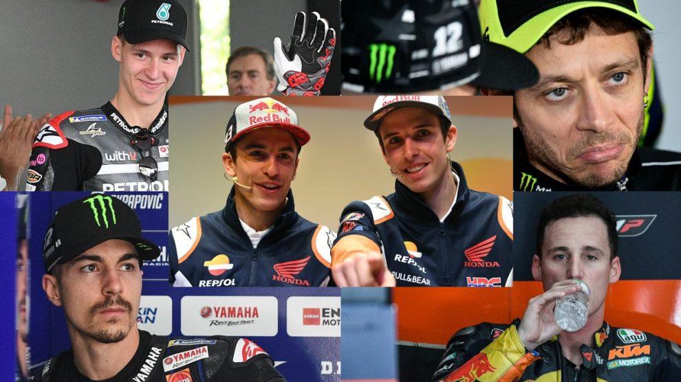 Los candidatos al título mundial de MotoGP