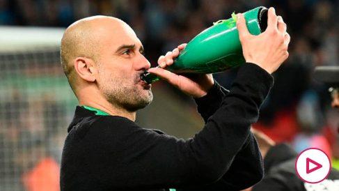 El City de Guardiola podrá jugar la próxima Champions. (AFP)