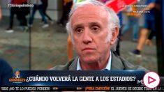 Eduardo Inda adelantó que el CSD no quiere público en los estadios hasta enero.