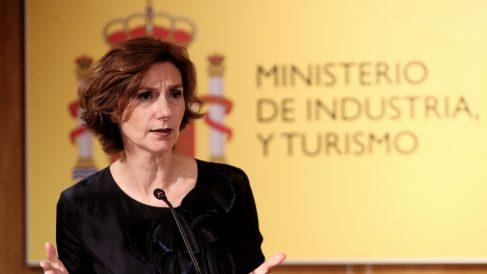 La secretaria de Estado de Turismo, Isabel Oliver ofrece una ruda de prensa tras convocar a la Comisión Sectorial del Turismo, en la que participa la Administración Central y las Comunidades Autónomas, en el Ministerio de Industria, Comercio y Turismo, en Madrid