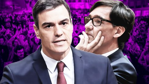 Pedro Sánchez y Salvador Illa.