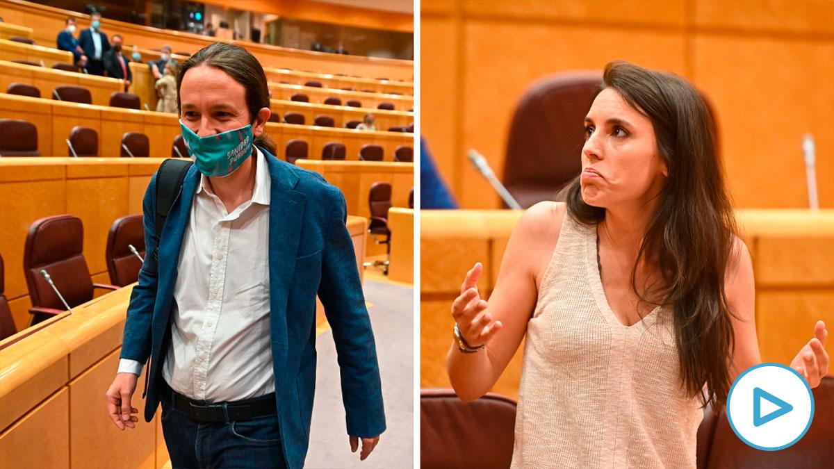 Irene Montero no ha querido contestar al PP en el Senado sobre el caso 'Dina-Iglesias' que afecta a su pareja.
