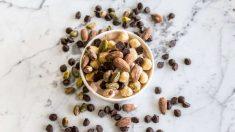 Los frutos secos son un excelente snack entre horas