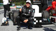 Valtteri Bottas celebra su victoria en el Gran Premio de Austria. (AFP)