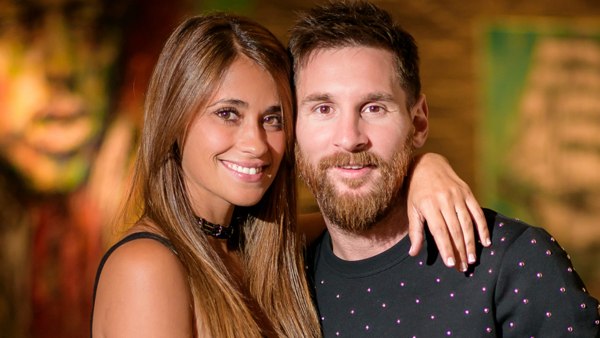Antonella Roccuzzo y Leo Messi.