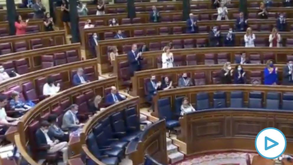 PP y Vox recuerdan a Martín Carpena, mientras el resto de diputados guardan silencio