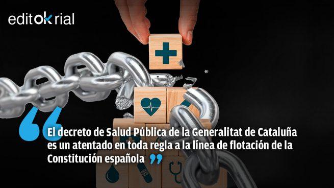 Torra, con Sánchez de palmero, confisca derechos fundamentales