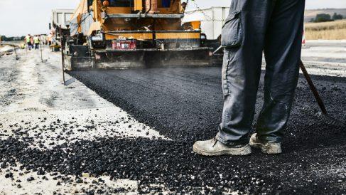 Obras en una carretera.