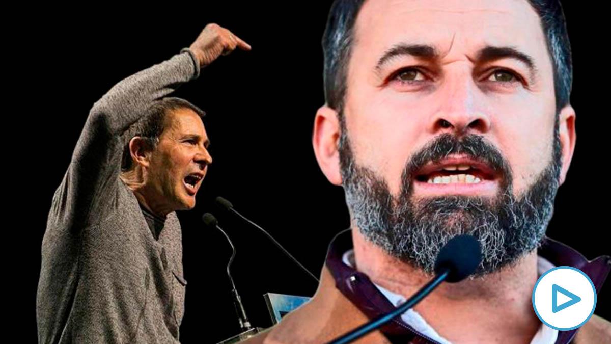 Arnaldo Otegi, líder condenado de EH Bildu, y Santiago Abascal, presidente de Vox.