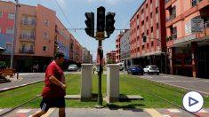 Tranvía detenido en Tenerife debido al 'cero energético'