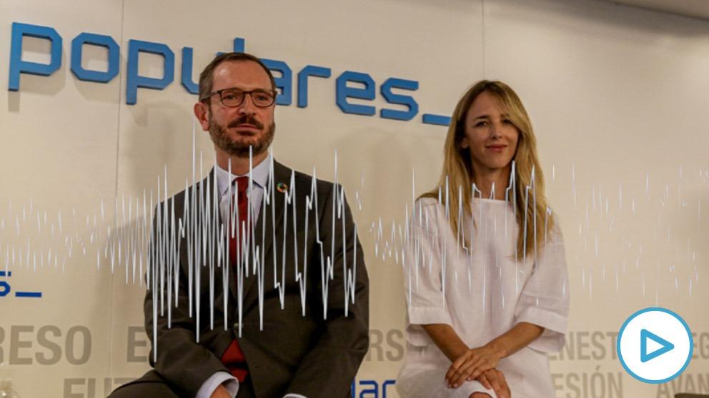 Javier Maroto y Cayetana Álvarez de Toledo, hoy, en la reunión del Comité Ejecutivo Nacional del PP.
