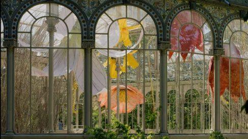 Detalle de la nueva exposición de Petrit Halilaj en el Palacio de Cristal de El Retiro de Madrid. @MNARS