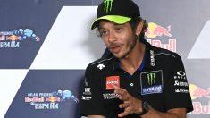 Valentino Rossi en la rueda de prensa previa al GP de Jerez. (AFP)