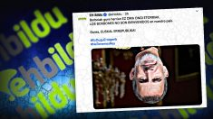 La imagen invertida del Rey Felipe VI difundida en las redes sociales por la formación proetarra de EH Bildu.