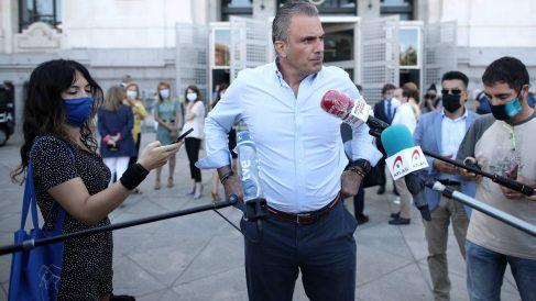 El secretario general de Vox y también portavoz en el Ayuntamiento de Madrid, Javier Ortega Smith. Foto: EP