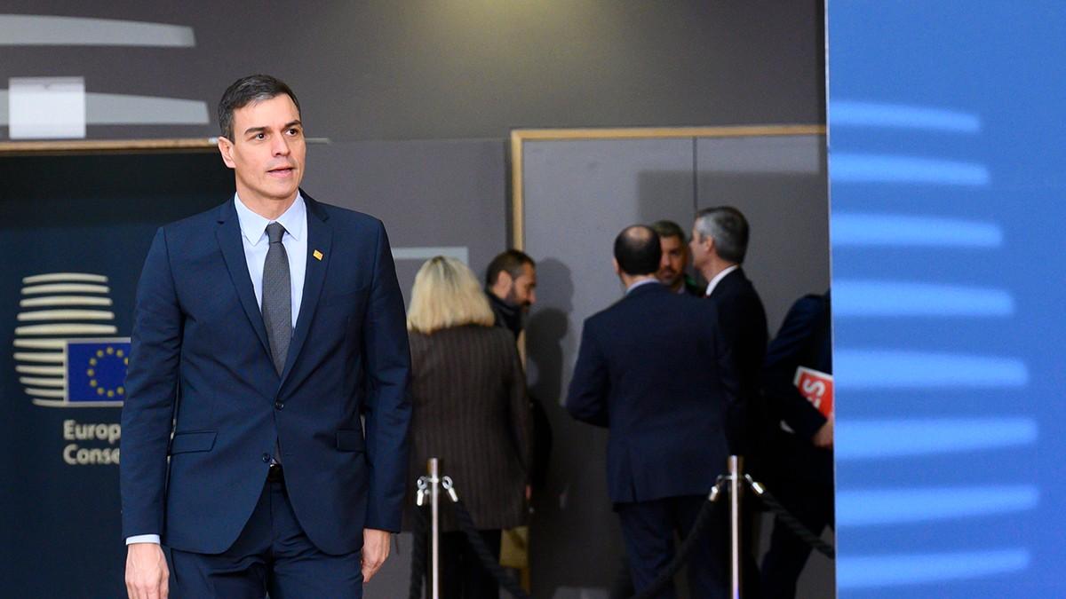 El presidente del Gobierno, Pedro Sánchez, se dirige a la reunión del Consejo Europeo en la que se debate sobre el presupuesto a largo plazo de la UE para 2021-2027, el denominado Marco Financiero Plurianual (MFP), en Bruselas (Bélgica)