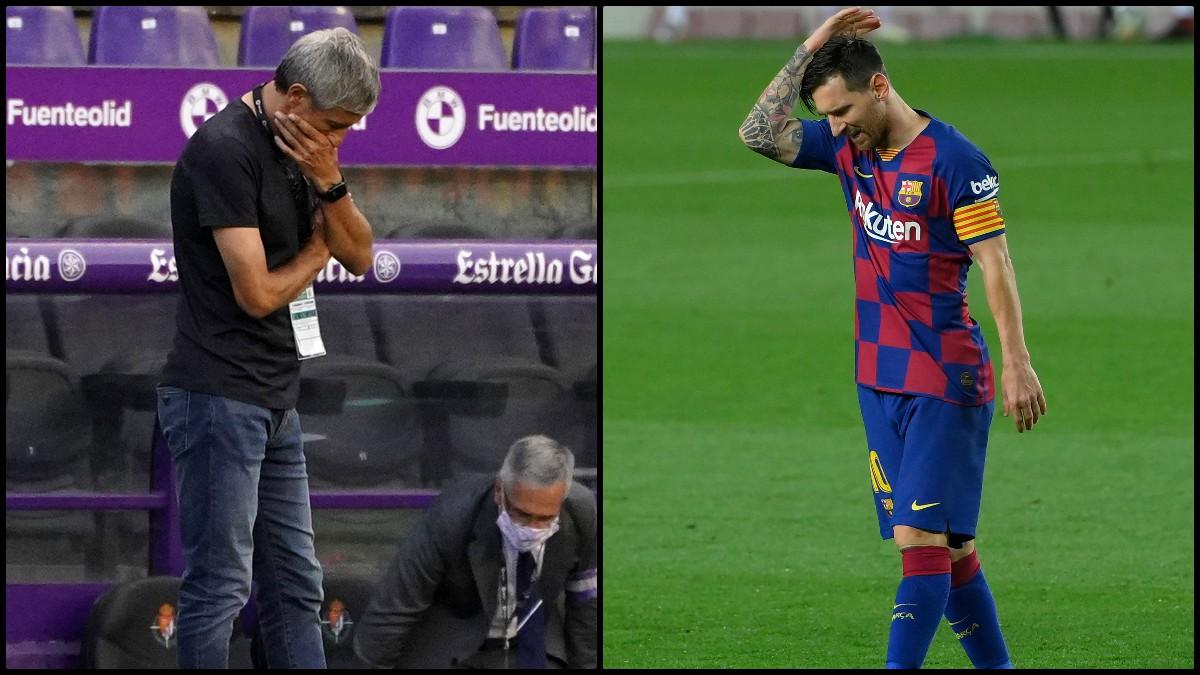 Messi sentenció a Setién tras la derrota ante Osasuna. (AFP)