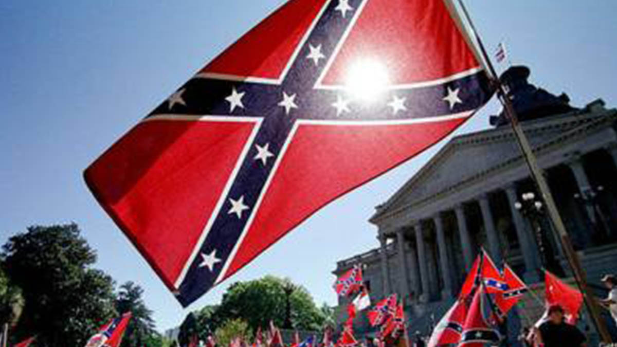 Bandera confederada de EEUU.