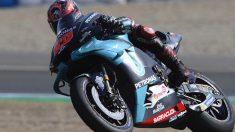 Fabio Quartararo se llevó la primera pole de la temporada en el Gran Premio de España de MotoGP (Getty)