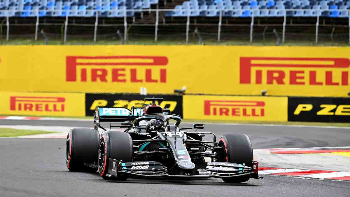Lewis Hamilton, en el GP de Hungría. (AFP)
