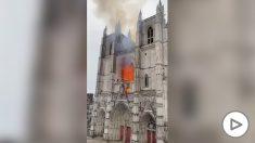 Incendio en la catedral de Nantes.
