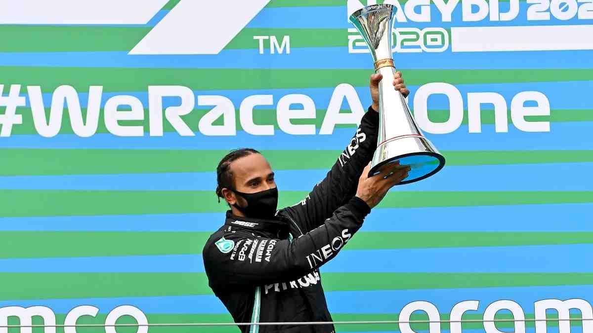 Lewis Hamilton en el Gran Premio de Hungría. (AFP)