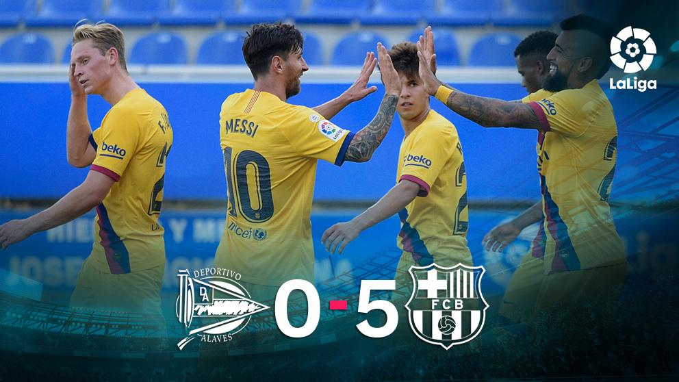 El Barcelona goleó al Alavés en Mendizorroza. (Getty)