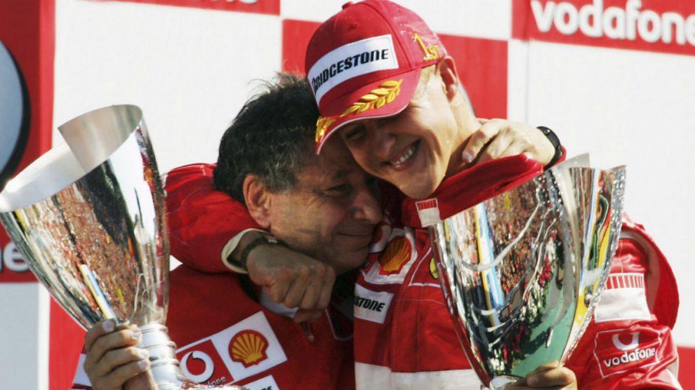 Michael Schumacher, junto a Jean Todt en su etapa en Ferrari. (Getty)