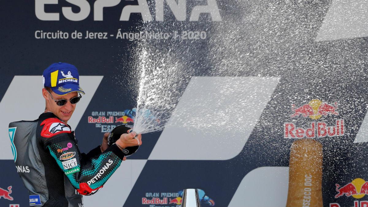 Quartararo se llevó el primer triunfo de la temporada de Moto GP. (EFE)