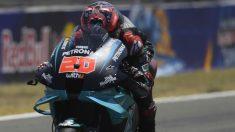 Quatararo fue el ganador de la primera carrera de MotoGP de la temporada. (Getty)