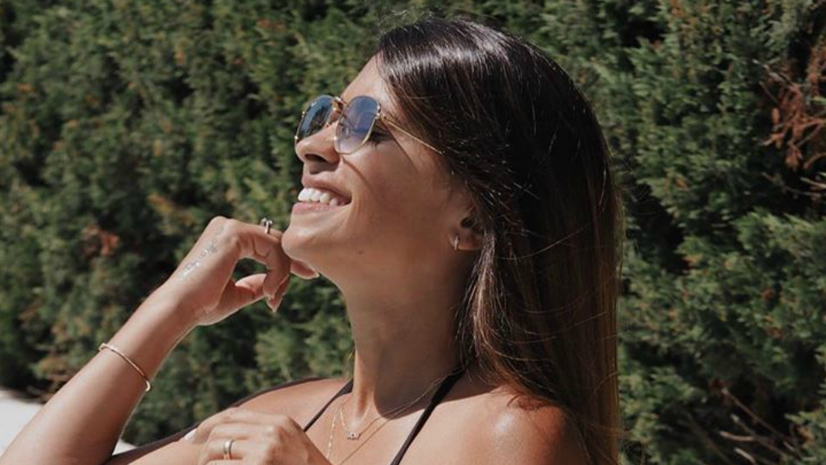 Antonella Roccuzzo y su posado en bikini.
