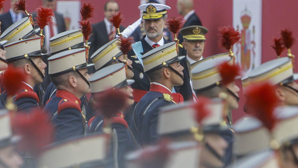 El Rey en el desfile celebrado el 12 de octubre de 2019.