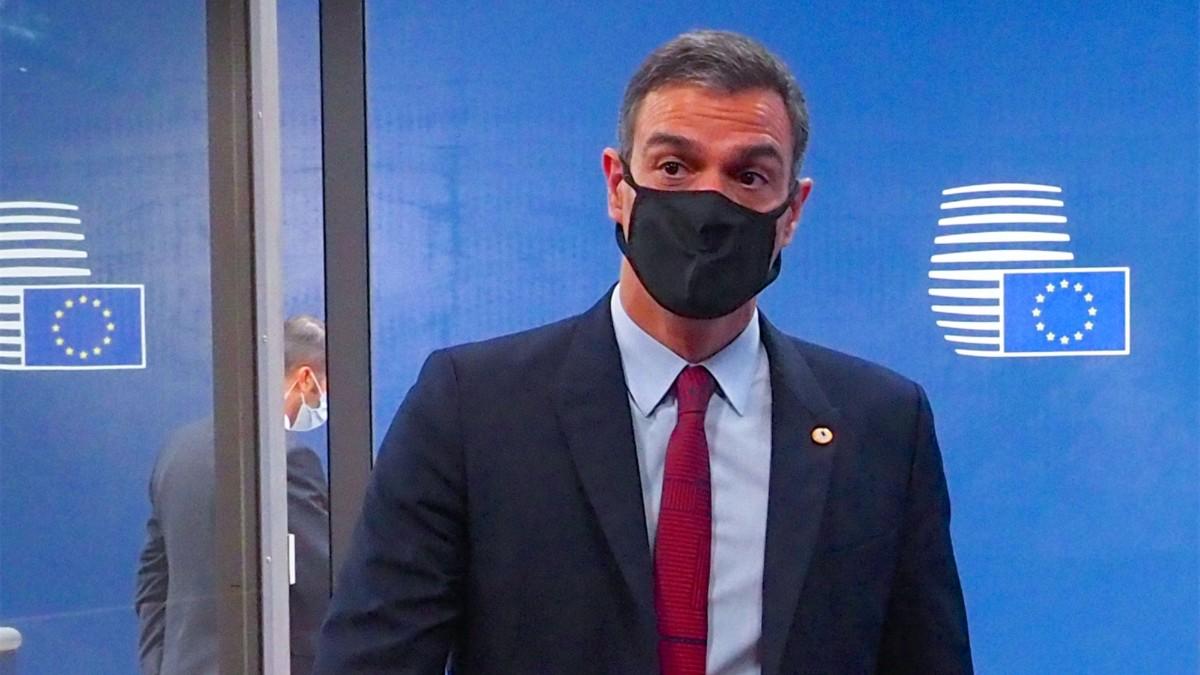 Pedro Sánchez, durante una cumbre de la UE.