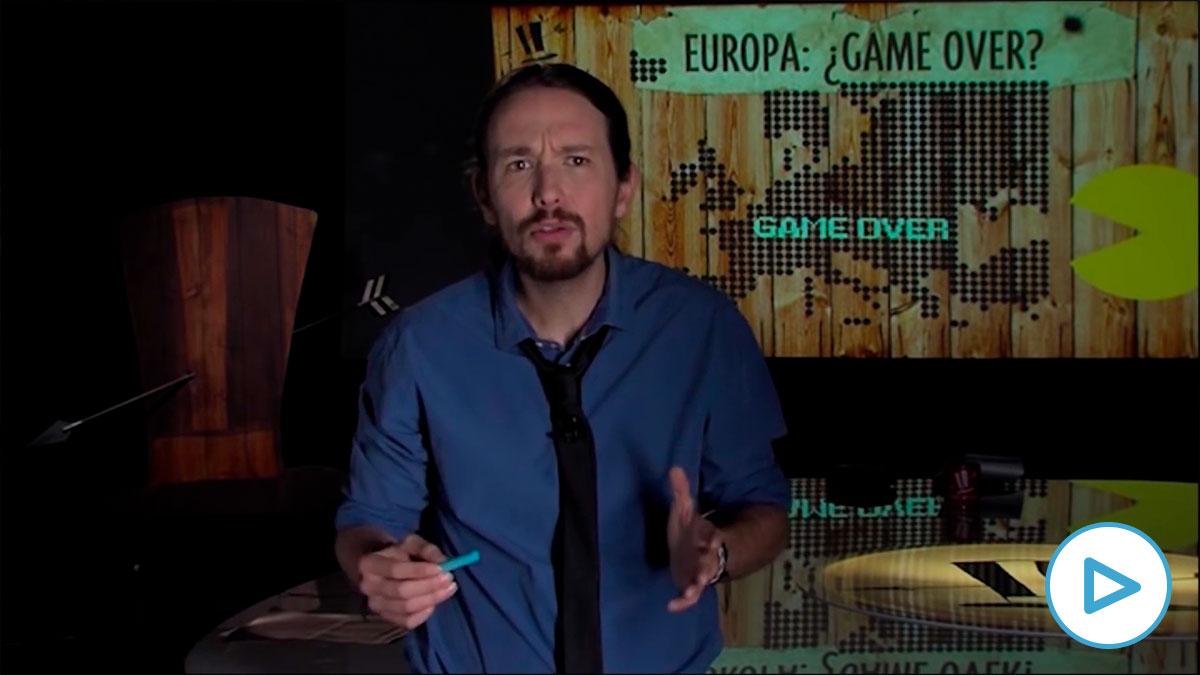 El vídeo de Pablo Iglesias que asusta en Bruselas: «Hay que salir del euro y suspender el pago de la deuda».