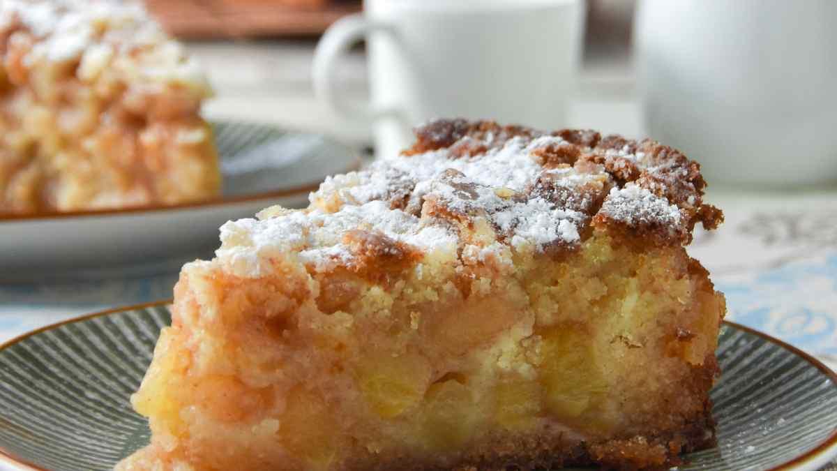 Receta de Tarta fina de manzana y chocolate blanco