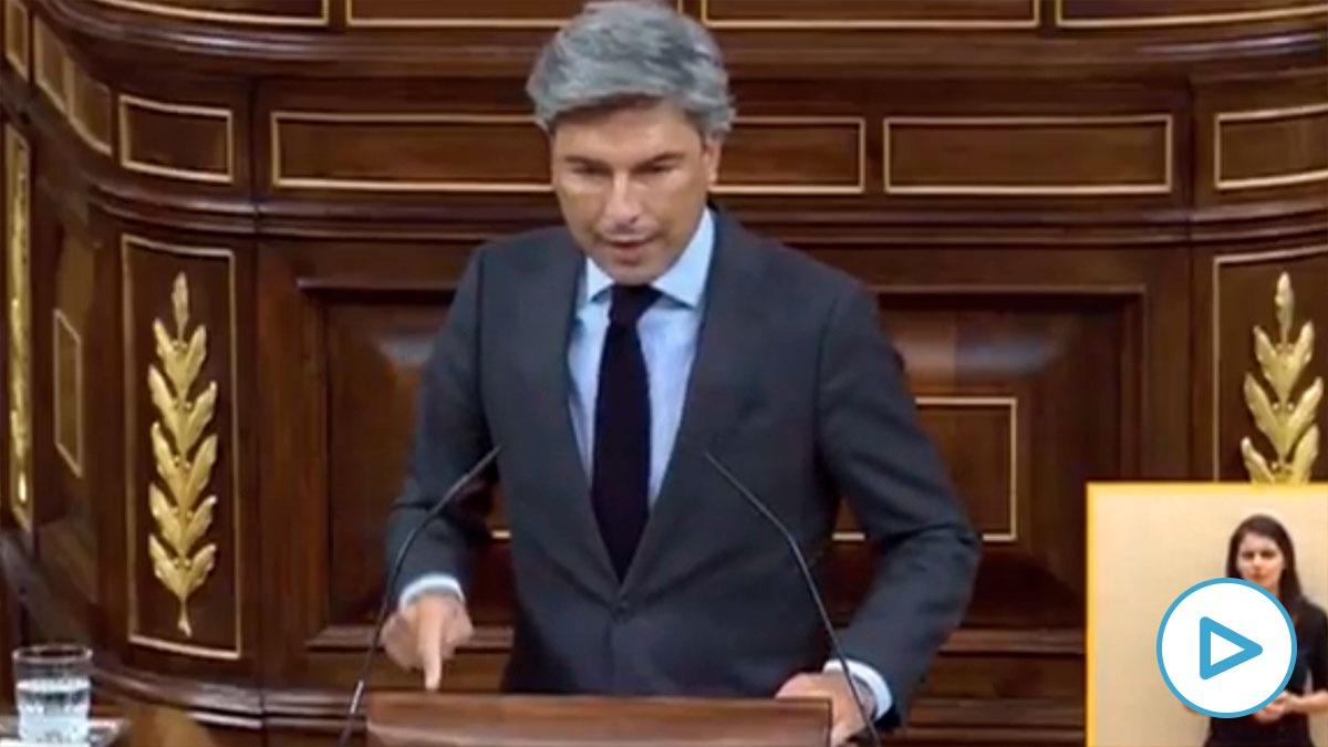 El diputado del PP Andrés Lorite pide explicaciones al ministro Ábalos en el Congreso.