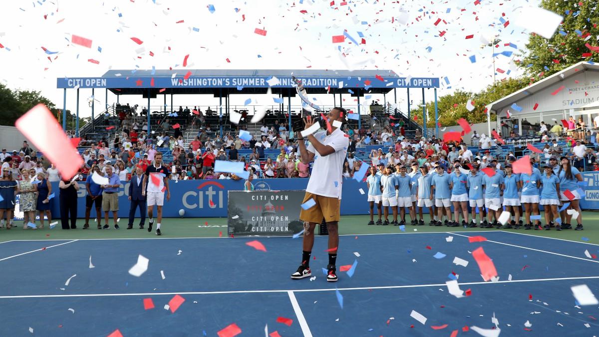 Nick Kyrgios, campeón del torneo de Washington en 2019. (AFP)