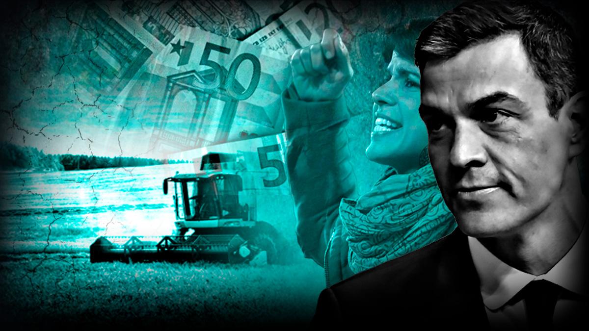 Pedro Sánchez acompaña a Teresa Rodríguez en su ataque al campo andaluz y congela las ayudas.