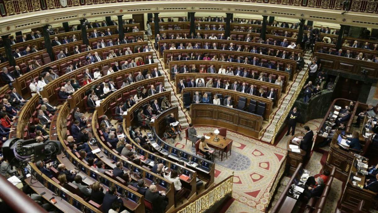 Vista general del hemiciclo en la XIV Legislatura en la sesión de investidura – CONGRESO – Archivo