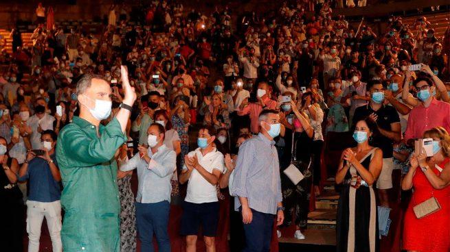 Los Reyes en el Festival de Teatro de Mérida (Foto: EFE)