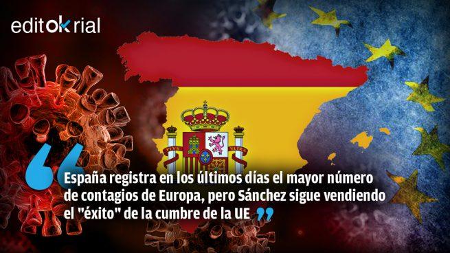 Sánchez sigue de autobombo mientras la pandemia se le vuelve a ir de las manos