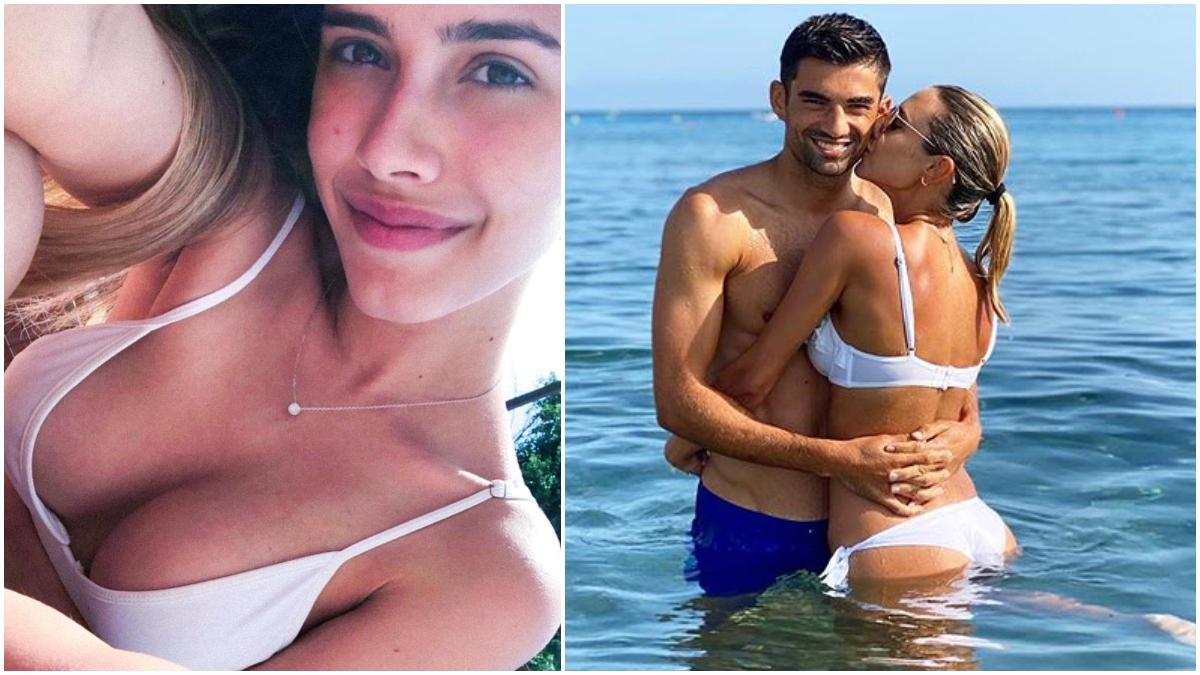 Karen Gonçalves y Enzo Zidane.