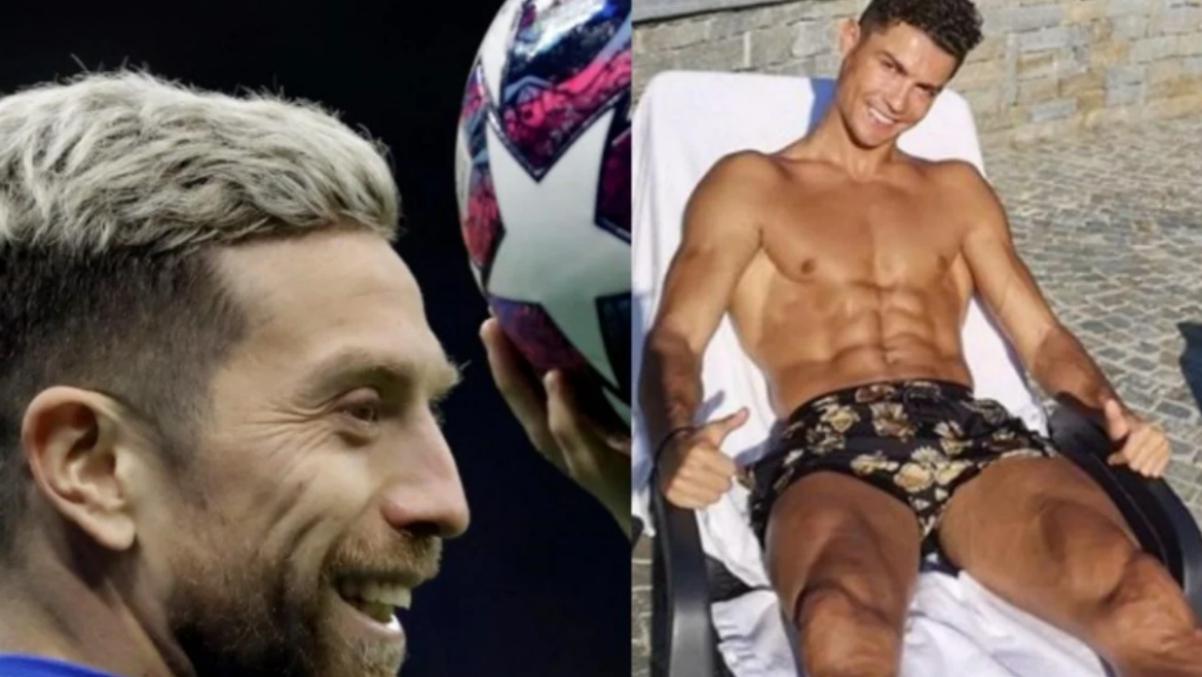 Pepu Gómez y Cristiano Ronaldo.